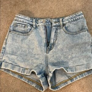 Washed mom shorts